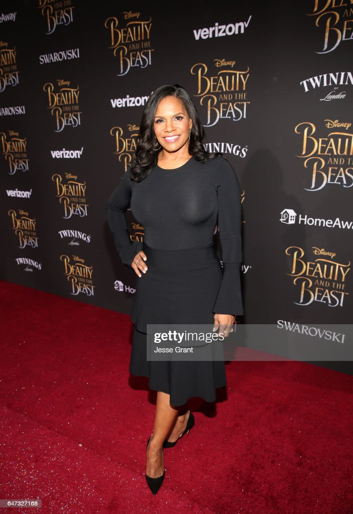 Actress Audra McDonald arrives for the world premiere of Disney's live-action 'Beauty and the Beast' at the El Capitan Theatre in Hollywood as the cast and filmmakers continue their worldwide publicity tour on March 2, 2017 in Los Angeles, California.