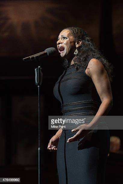 Actress Audra McDonald performs during A Night of Broadway Stars at Frederick P Rose Hall Jazz at Lincoln Center on June 9 2015 in New York City