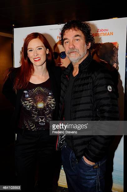 Actress Audrey Fleurot and actor Olivier Marchal attend the 'Belle Comme La Femme D'un Autre' Paris Premiere At UGC Bercy on January 20 2014 in Paris...