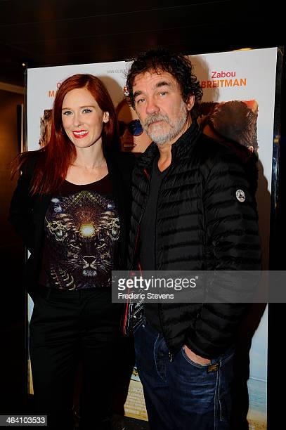 Actress Audrey Fleurot and actor Olivier Marchal attends the 'Belle Comme La Femme D'un Autre' Paris Premiere At UGC Bercy on January 20 2014 in...