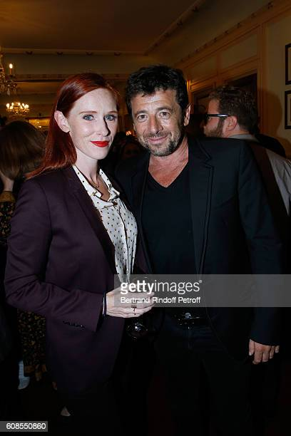 Actress Audrey Fleurot and singer Patrick Bruel attend the 'Tout ce que vous voulez' Theater Play at Theatre Edouard VII on September 19 2016 in...