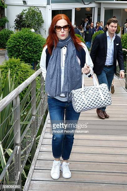 Actress Audrey Fleurot attends Day Fourteen Women single's Final of the 2016 French Tennis Open at Roland Garros on June 4 2016 in Paris France
