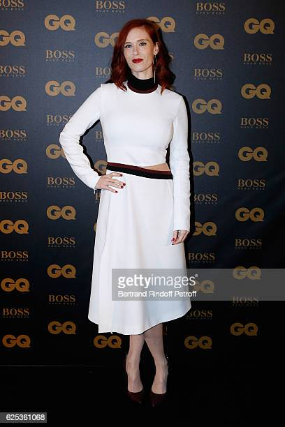 Actress Audrey Fleurot dressed in Thierry Mugler attends the GQ Men of the Year Awards 2016 Photocall at Musee d'Orsay on November 23 2016 in Paris...