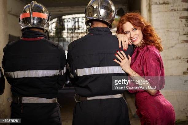 Actress Audrey Fleurot is photographed for Paris Match in an disused foundry on March 10 2014 in Saint Maure Des FossesFrance