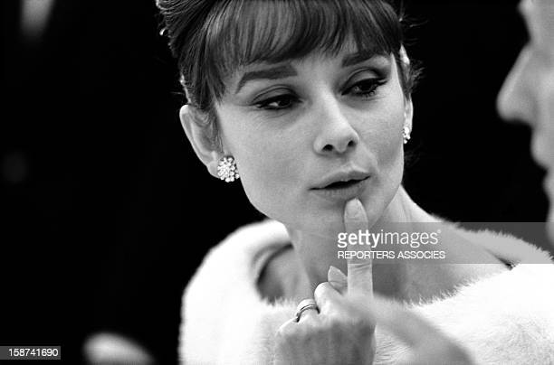 Actress Audrey Hepburn at the 4Bal des Petits Lits Blancs' on board of Liner France on January 1962 in France