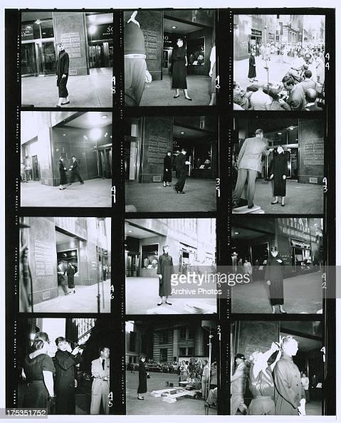 Actress Audrey Hepburn on the set of the film 'Sabrina' at 30 Broad Street Manhattan New York City 5th October 1953