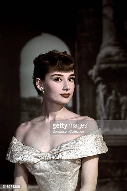 Actress Audrey Hepburn poses for a publicity still for the Paramount Pictures film 'Roman Holiday' in 1953 in Rome Italy