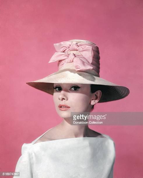 Actress Audrey Hepburn poses for a publicity still for the Paramount Pictures film 'Funny Face' in 1957 in Los Angeles California