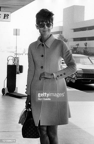 Actress Audrey Hepburn sighted on April 1 1968 at the Los Angeles International Airport in Los Angeles California