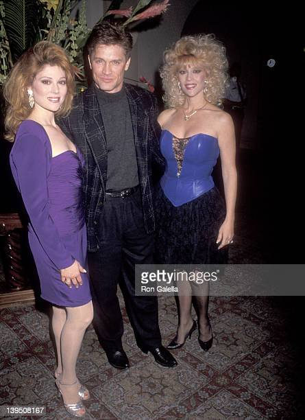 Actress Audrey Landers actor Andrew Stevens and actress Judy Landers attend Audrey Landers Opening Night Singing Engagement on March 5 1991 at the...