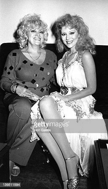 Actress Audrey Landers and mother Ruth Landers attend the book party for Barbara Sloan White 'Blonds' on November 15 1984 at the Limelight in New...