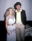 Actress Audrey Landers and music producer Jack White attend Party for Barbara SloanWhite's New Book 'Blonds' on November 15 1984 at The Limelight in...
