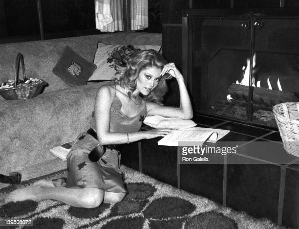 Actress Audrey Landers attends Exclusive Photo Session with The Landers Sisters on April 21 1982 at her home in Beverly Hills California