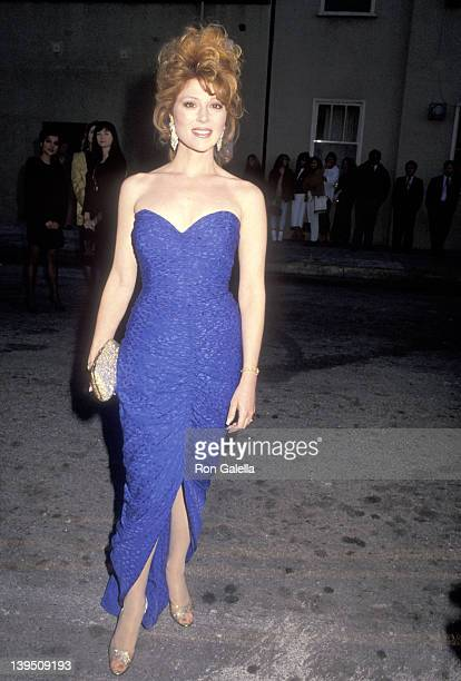 Actress Audrey Landers attends the 17th Annual People's Choice Awards on March 11 1991 at Paramount Studios in Hollywood California