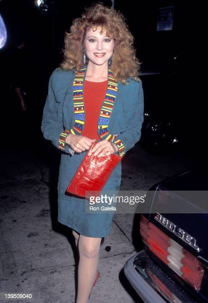 Actress Audrey Landers attends the Alzado's Restaurant Grand Opening Celebration on February 26 1990 at Alzado's Restaurant in West Hollywood...