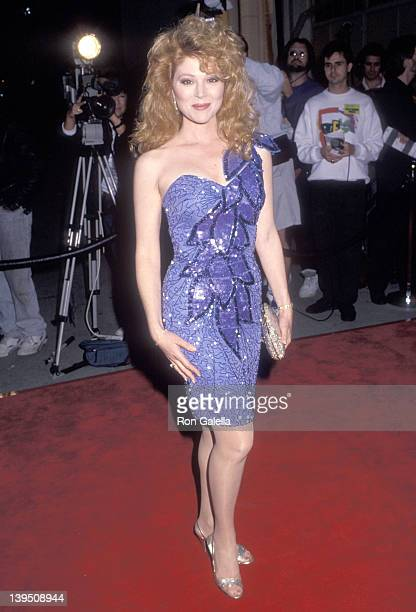 Actress Audrey Landers attends the Sixth Annual American Comedy Awards on March 28 1992 at Shrine Auditorium in Los Angeles California