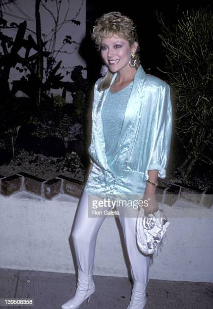 Actress Audrey Landers on August 19 1986 dines at Spago in West Hollywood California