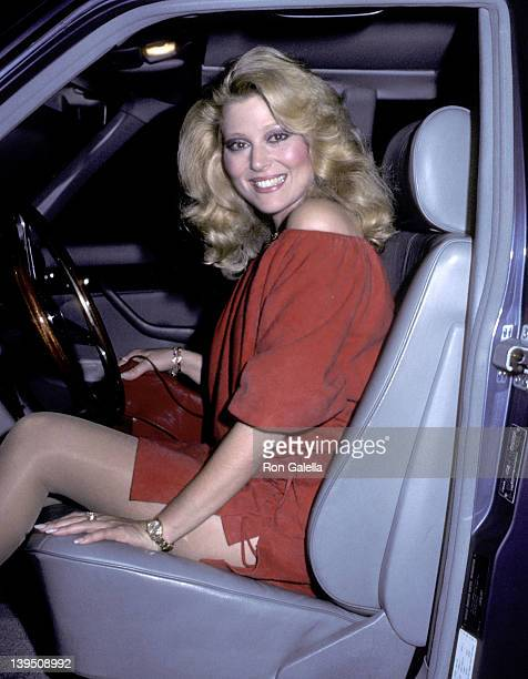 Actress Audrey Landers on October 9 1983 dines at Chasen's Restaurant in Beverly Hills California