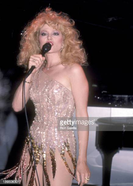 Actress Audrey Landers performs in concert on June 13 1984 at The Red Parrot in New York City