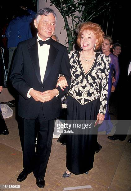 Actress Audrey Meadows and date attending 'Carousel Of Hope Ball Benefit' on October 28 1994 at the Beverly Hilton Hotel in Beverly Hills California