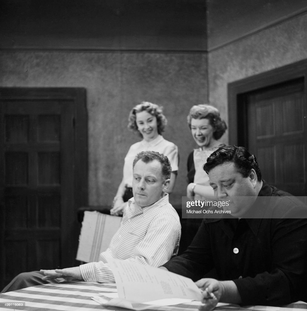 Actress audrey meadows joyce randolph with actors art carney and