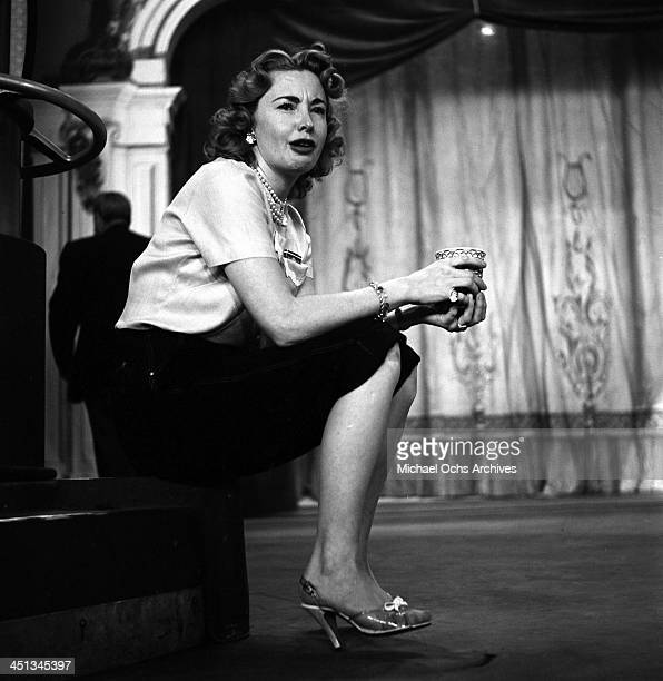 Actress Audrey Meadows on stage during the ' The Jackie Gleason Show' in Los Angeles California