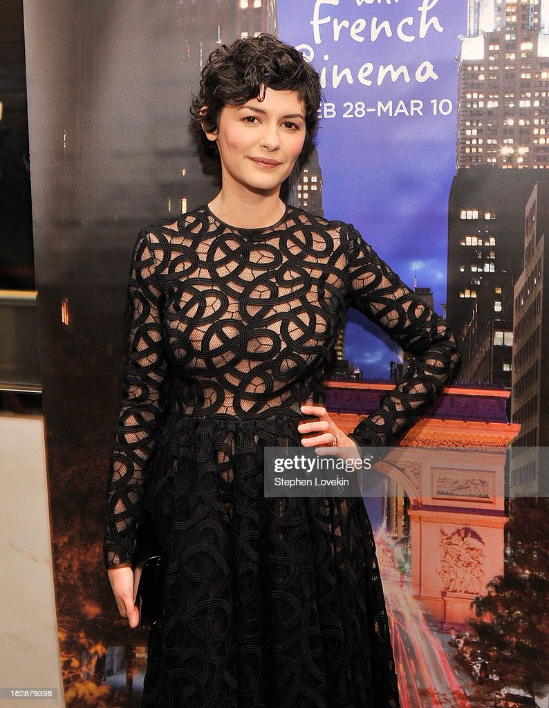 Actress Audrey Tatou attends the U.S. premiere of 'Populaire', hosted by The Film Society of Lincoln Center, UniFrance Films and The Weinstein Company at The Paris Theatre on February 28, 2013 in New York City.