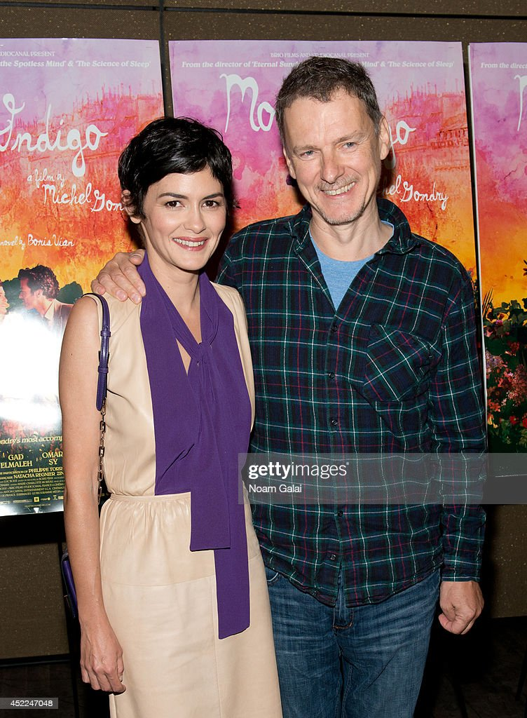 Actress <a gi-track='captionPersonalityLinkClicked' href=/galleries/search?phrase=Audrey+Tautou&family=editorial&specificpeople=212727 ng-click='$event.stopPropagation()'>Audrey Tautou</a> and director <a gi-track='captionPersonalityLinkClicked' href=/galleries/search?phrase=Michel+Gondry&family=editorial&specificpeople=216337 ng-click='$event.stopPropagation()'>Michel Gondry</a> attend the 'Mood Indigo' New York Premiere at Tribeca Grand Hotel on July 16, 2014 in New York City.
