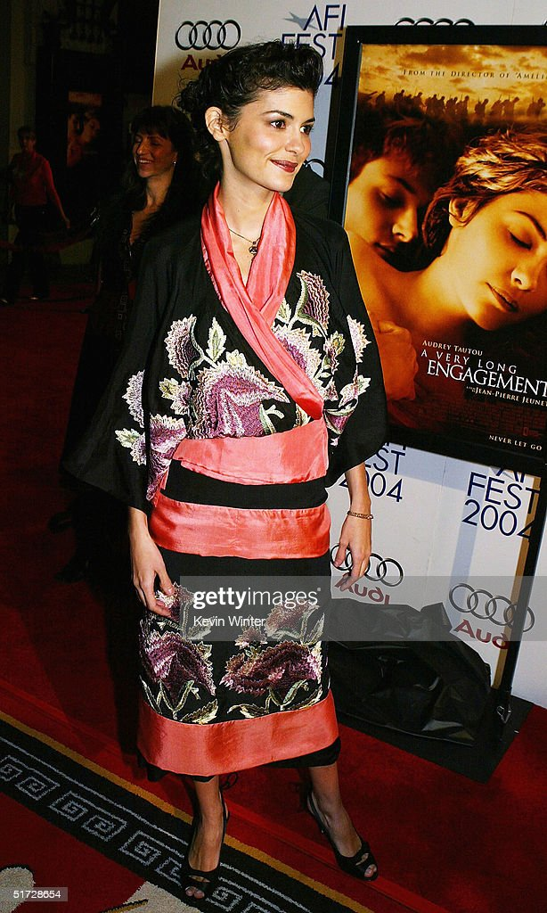 Actress Audrey Tautou arrives at the AFI Fest 2004 screening of Warner Independent Pictures' 'A Very Long Engagement' at the Chinese Theater on November 10, 2004 in Los Angeles, California.