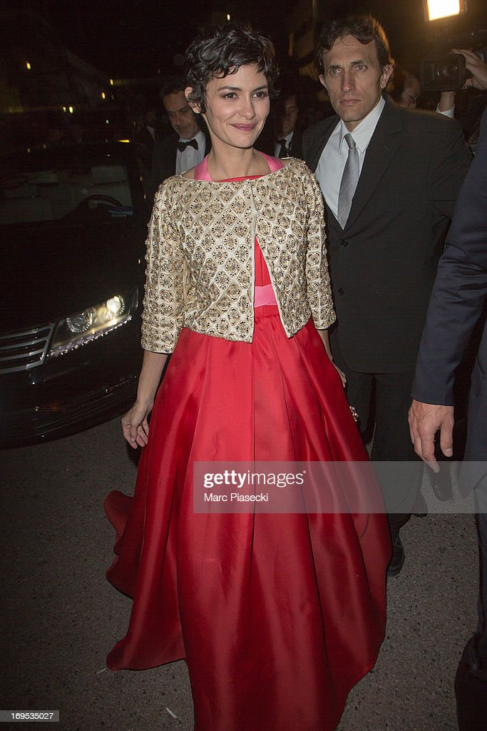 Actress Audrey Tautou arrives at the 'Agora' dinner during the 66th Annual Cannes Film Festival on May 26, 2013 in Cannes, France.