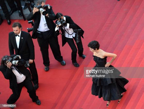 Actress Audrey Tautou arrives at 'Venus In Fur' Premiere during the 66th Annual Cannes Film Festival at Grand Theatre Lumiere on May 25 2013 in...