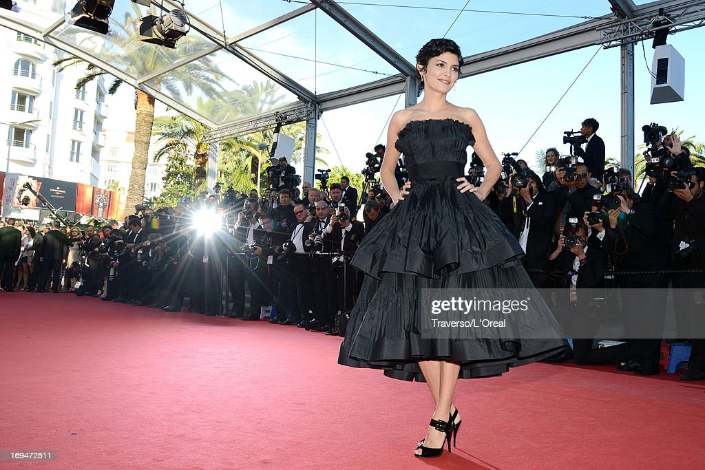 Actress Audrey Tautou arrives at 'Venus In Fur' Premiere during the 66th Annual Cannes Film Festival at Grand Theatre Lumiere on May 25, 2013 in Cannes, France.