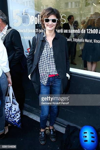 Actress Audrey Tautou attends the '55 Politiques' Exhibition of Stephanie Murat's Pictures Opening Party at Galerie Dupin on June 9 2016 in Paris...