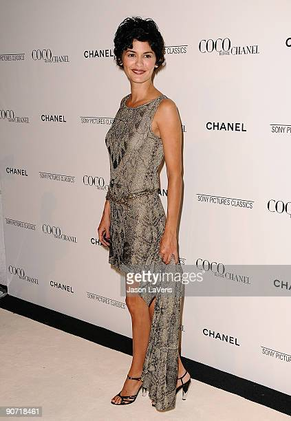 Actress Audrey Tautou attends the after party for 'Coco Before Chanel' at Chanel Boutique on September 9 2009 in Beverly Hills California