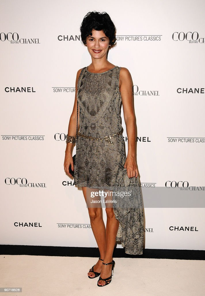 Actress <a gi-track='captionPersonalityLinkClicked' href=/galleries/search?phrase=Audrey+Tautou&family=editorial&specificpeople=212727 ng-click='$event.stopPropagation()'>Audrey Tautou</a> attends the after party for 'Coco Before Chanel' at Chanel Boutique on September 9, 2009 in Beverly Hills, California.
