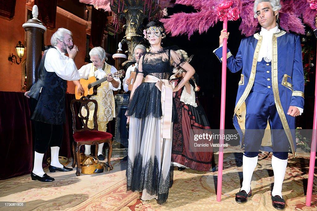 Actress Audrey Tautou attends the 'Ballo in Maschera' to Celebrate Dolce&Gabbana Alta Moda at Palazzo Pisani Moretta on July 6, 2013 in Venice, Italy.