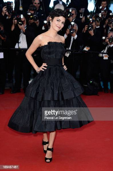 Actress Audrey Tautou attends the 'La Venus A La Fourrure' premiere during The 66th Annual Cannes Film Festival at Theatre Lumiere on May 25 2013 in...