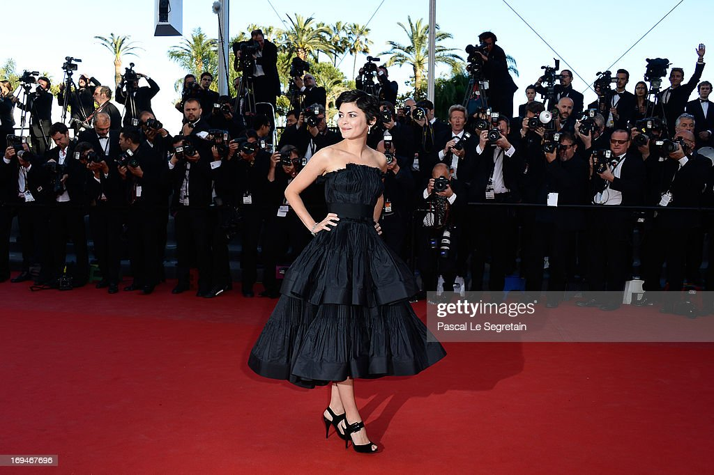 Actress Audrey Tautou attends the 'La Venus A La Fourrure' premiere during The 66th Annual Cannes Film Festival at Theatre Lumiere on May 25, 2013 in Cannes, France.