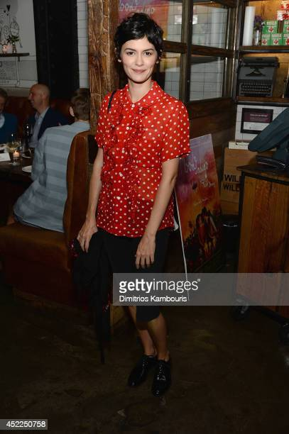 Actress Audrey Tautou attends the 'Mood Indigo' after party at Willow Road on July 16 2014 in New York City