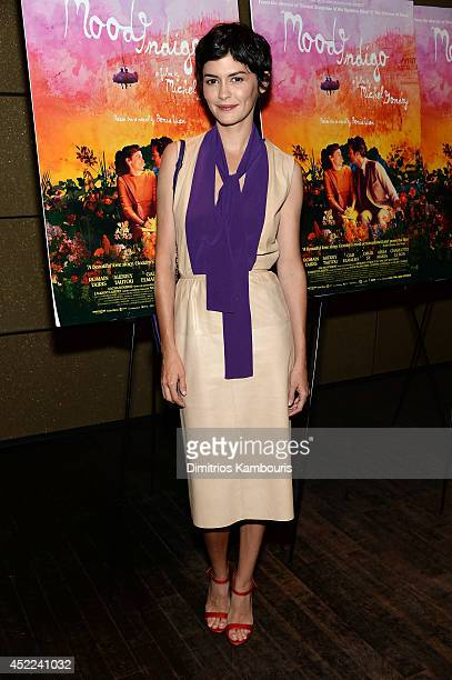 Actress Audrey Tautou attends the 'Mood Indigo' New York premiere at Tribeca Grand Hotel on July 16 2014 in New York City