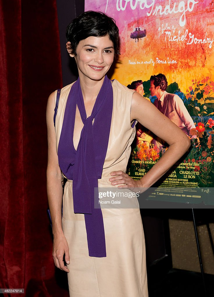 Actress <a gi-track='captionPersonalityLinkClicked' href=/galleries/search?phrase=Audrey+Tautou&family=editorial&specificpeople=212727 ng-click='$event.stopPropagation()'>Audrey Tautou</a> attends the 'Mood Indigo' New York Premiere at Tribeca Grand Hotel on July 16, 2014 in New York City.
