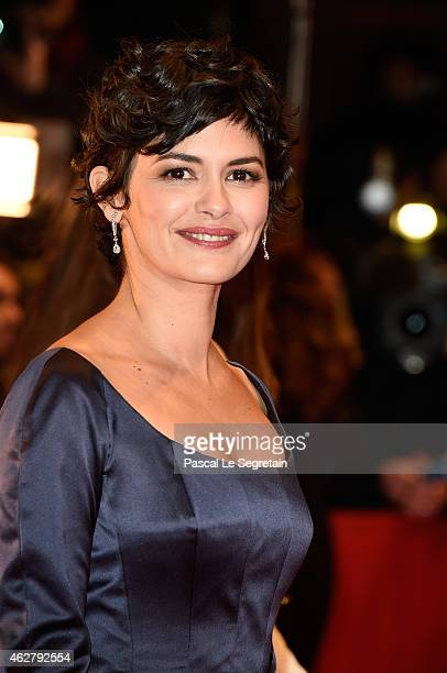 Actress Audrey Tautou attends the 'Nobody Wants the Night' Opening Night premiere during the 65th Berlinale International Film Festival at Berlinale...