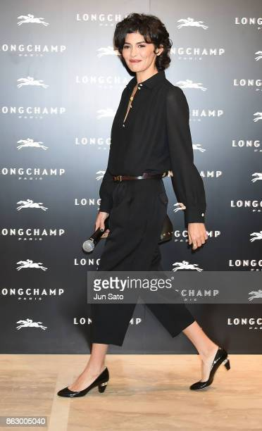 Actress Audrey Tautou attends the opening ceremony of Longchamp La Maison Omotesando flagship store on October 19 2017 in Tokyo Japan