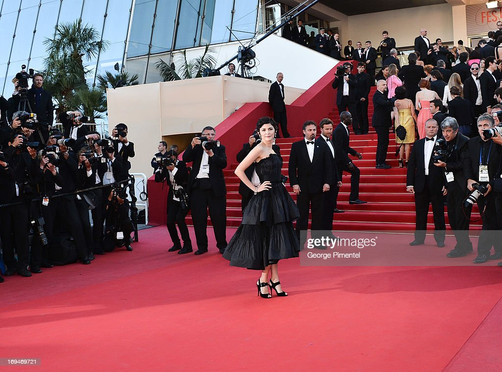 Actress Audrey Tautou attends the Premiere of 'La Venus A La Fourrure' at The 66th Annual Cannes Film Festival on May 25, 2013 in Cannes, France.