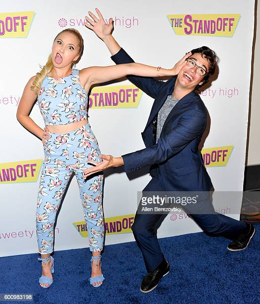 Actress Audrey Whitby and boyfriend actor Joey Bragg attend the premiere of Vision Films' 'The Standoff' at Regal LA Live A Barco Innovation Center...