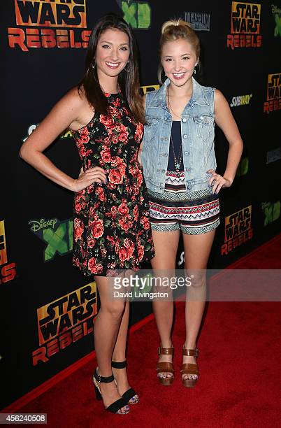Actress Audrey Whitby attends a screening of Disney XD's 'Star Wars Rebels Spark of Rebellion' at AMC Century City 15 theater on September 27 2014 in...