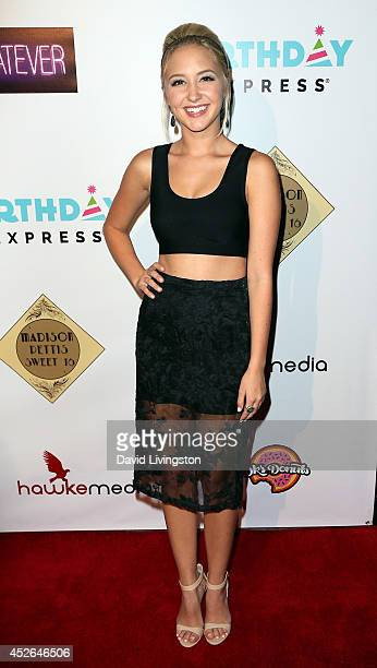 Actress Audrey Whitby attends actress Madison Pettis' Sweet 16 Birthday Party at the Emerson Theatre on July 24 2014 in Hollywood California