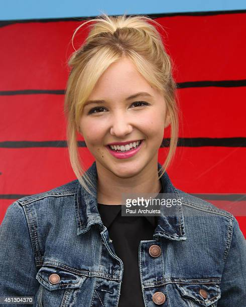 Actress Audrey Whitby attends Camp Snoopy's 30th anniversary VIP party at Knott's Berry Farm on June 26 2014 in Buena Park California