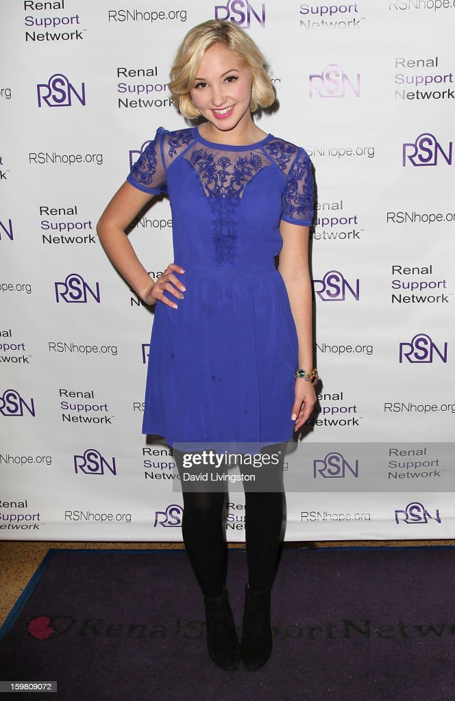 Actress Audrey Whitby attends the 14th Annual RSN's Renal Teen Prom at Notre Dame High School on January 20, 2013 in Sherman Oaks, California.
