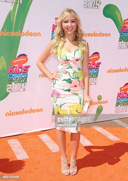 Actress Audrey Whitby attends the 2014 Nickelodeon Kids' Choice Sports Awards at Pauley Pavilion on July 17 2014 in Los Angeles California